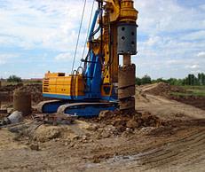 View of drilling machine