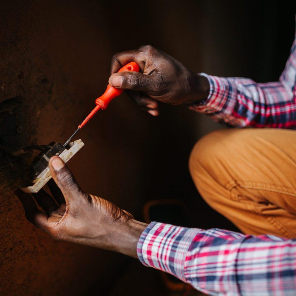 electrician in Uganda, Africa
